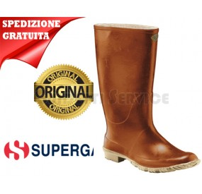 STIVALI SUPERGA MARRONE IN GOMMA